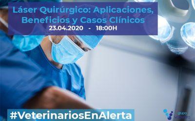 [CHARLA ONLINE] Láser Quirúrgico: Aplicaciones, Beneficios y Casos Clínicos – #VeterinariosEnAlerta