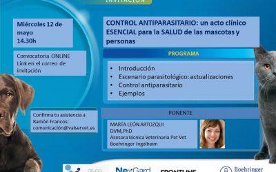 [CHARLA IMPULSO ACV y Veterinarios] Control Antiparasitario: un acto clínico esencial para la salud de las mascotas y personas